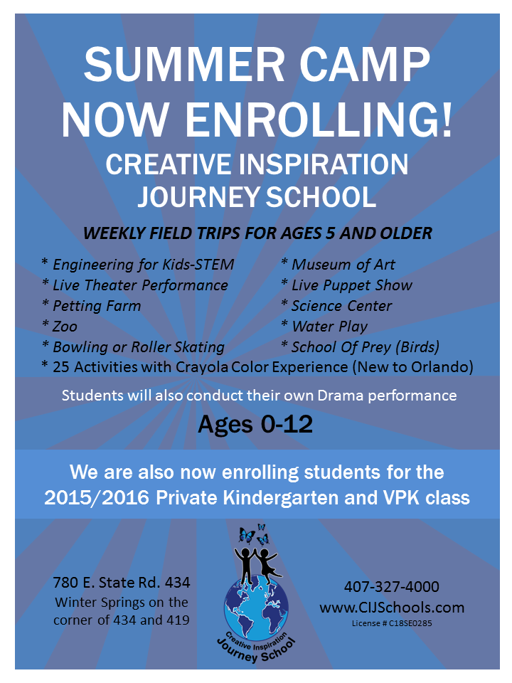 CIJS Now Enrolling 2015 Summer Camp